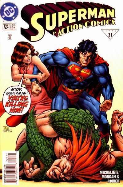 Cover for Action Comics (DC, 1938 series) #724