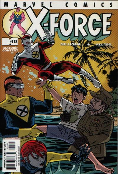 Cover for X-Force (Marvel, 1991 series) #118 [Direct Edition]