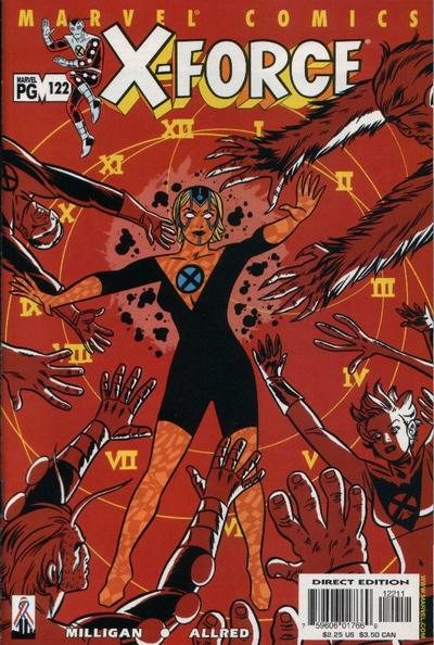 Cover for X-Force (Marvel, 1991 series) #122 [Direct Edition]