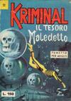 Cover for Kriminal (Editoriale Corno, 1964 series) #11