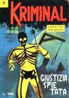 Cover for Kriminal (Editoriale Corno, 1964 series) #9
