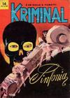 Cover for Kriminal (Editoriale Corno, 1964 series) #14
