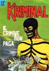 Cover for Kriminal (Editoriale Corno, 1964 series) #17