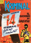 Cover for Kriminal (Editoriale Corno, 1964 series) #23