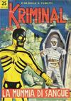 Cover for Kriminal (Editoriale Corno, 1964 series) #25