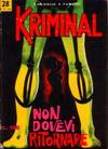 Cover for Kriminal (Editoriale Corno, 1964 series) #28