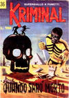 Cover for Kriminal (Editoriale Corno, 1964 series) #36