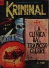 Cover for Kriminal (Editoriale Corno, 1964 series) #37