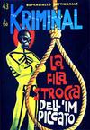 Cover for Kriminal (Editoriale Corno, 1964 series) #43