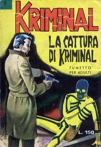 Cover Thumbnail for Kriminal (Editoriale Corno, 1964 series) #8