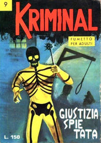 Cover Thumbnail for Kriminal (Editoriale Corno, 1964 series) #9