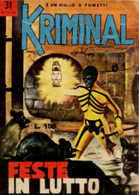 Cover Thumbnail for Kriminal (Editoriale Corno, 1964 series) #31