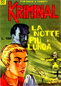 Cover Thumbnail for Kriminal (Editoriale Corno, 1964 series) #33