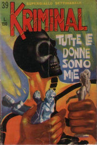 Cover Thumbnail for Kriminal (Editoriale Corno, 1964 series) #39