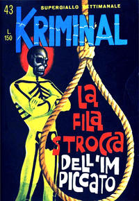 Cover Thumbnail for Kriminal (Editoriale Corno, 1964 series) #43