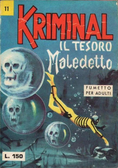 Cover for Kriminal (Editoriale Corno, 1964 series) #11