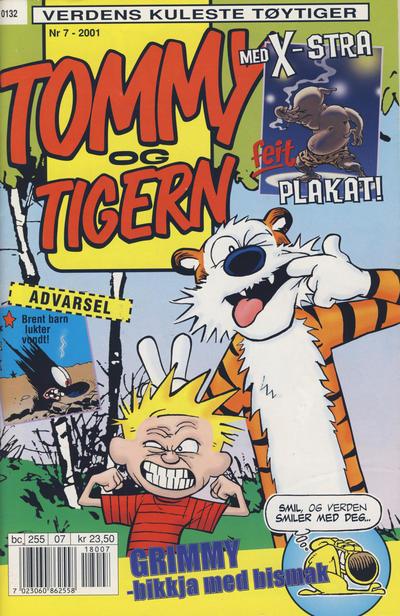 Cover for Tommy og Tigern (Bladkompaniet / Schibsted, 1989 series) #7/2001