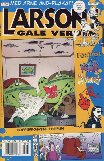 Cover for Larsons gale verden (Bladkompaniet / Schibsted, 1992 series) #7/2001