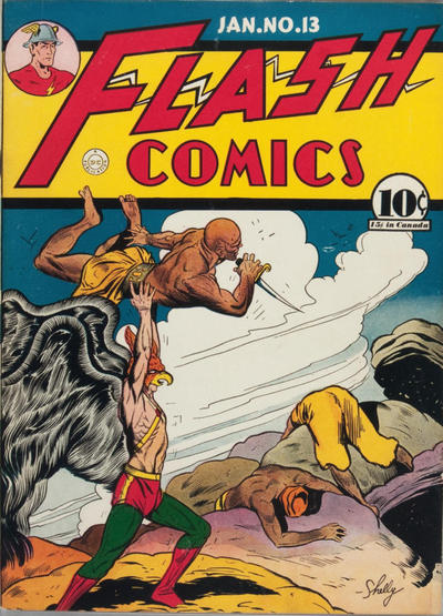 Cover for Flash Comics (DC, 1940 series) #13 [American Price Only]