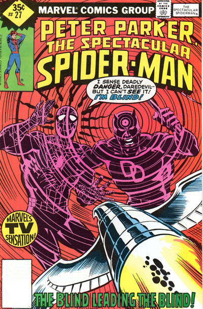 "Cover for The Spectacular Spider-Man (Marvel, 1976 series) #27 [J.C. Penney ""Vintage Pack"" 2nd printing]"