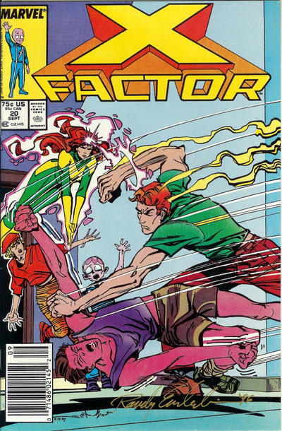 Cover for X-Factor (Marvel, 1986 series) #20 [Newsstand Edition]