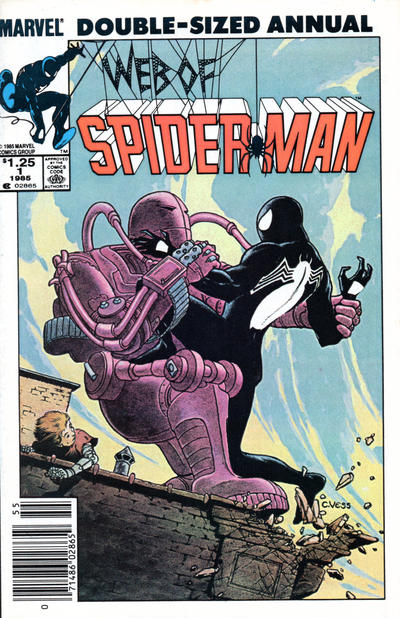 Cover for Web of Spider-Man Annual (Marvel, 1985 series) #1 [Newsstand]