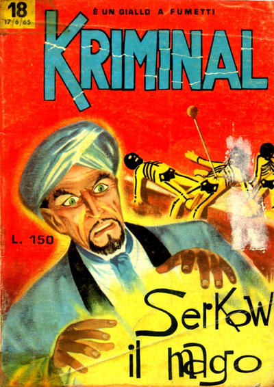 Cover for Kriminal (Editoriale Corno, 1964 series) #18