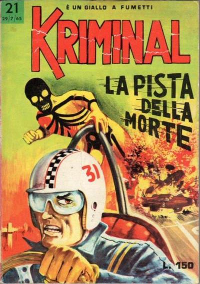 Cover for Kriminal (Editoriale Corno, 1964 series) #21