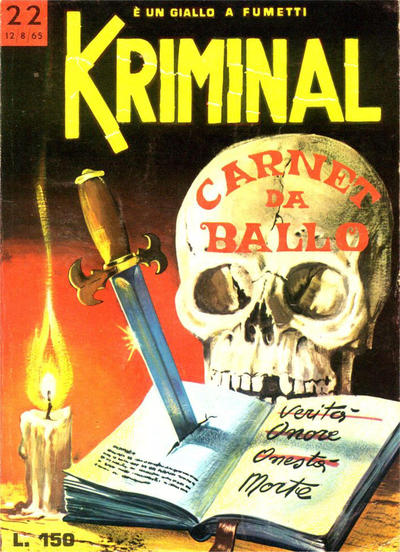 Cover for Kriminal (Editoriale Corno, 1964 series) #22