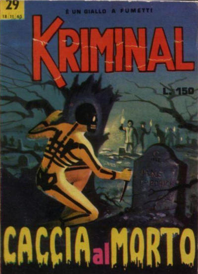Cover for Kriminal (Editoriale Corno, 1964 series) #29
