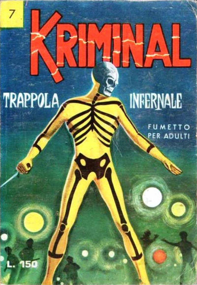 Cover for Kriminal (Editoriale Corno, 1964 series) #7