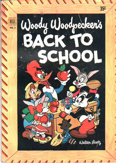 Cover for Walter Lantz Woody Woodpecker's Back to School (Dell, 1952 series) #1 [35¢]