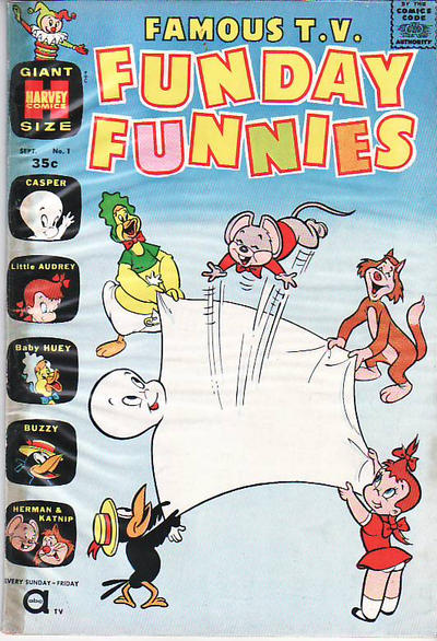 Cover for Famous TV Funday Funnies (Harvey, 1961 series) #1