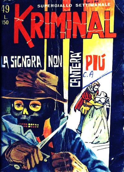 Cover for Kriminal (Editoriale Corno, 1964 series) #49