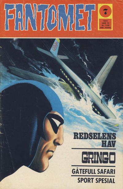 Cover for Fantomet (Romanforlaget, 1966 series) #7/1972