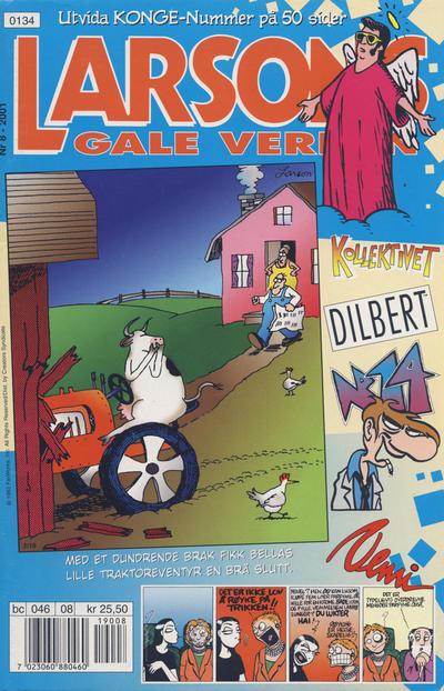 Cover for Larsons gale verden (Bladkompaniet / Schibsted, 1992 series) #8/2001