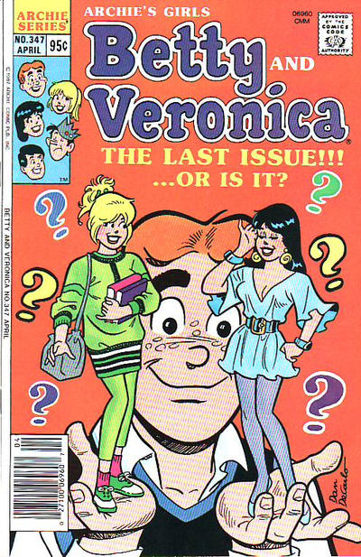 Cover for Archie's Girls Betty and Veronica (Archie, 1950 series) #347