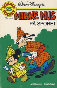 Cover Thumbnail for Donald Pocket (Hjemmet / Egmont, 1968 series) #25 - Mikke Mus på sporet [1. opplag]