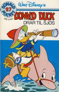 Cover Thumbnail for Donald Pocket (Hjemmet / Egmont, 1968 series) #27 - Donald Duck drar til sjøs [1. opplag]
