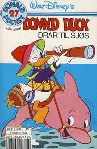 Cover Thumbnail for Donald Pocket (Hjemmet / Egmont, 1968 series) #27 - Donald Duck drar til sjøs [3. opplag Reutsendelse 330 15]