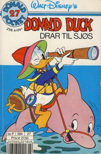 Cover Thumbnail for Donald Pocket (Hjemmet / Egmont, 1968 series) #27 - Donald Duck drar til sjøs [3. opplag]