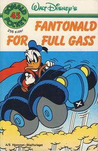 Cover Thumbnail for Donald Pocket (Hjemmet / Egmont, 1968 series) #45 - Fantonald for full gass [1. opplag]