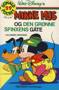 Cover Thumbnail for Donald Pocket (Hjemmet / Egmont, 1968 series) #29 - Mikke Mus og den grønne sfinxens gåte [2. opplag]