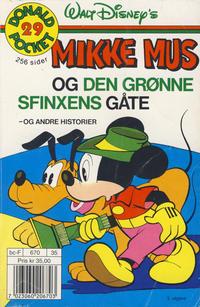 Cover Thumbnail for Donald Pocket (Hjemmet / Egmont, 1968 series) #29 - Mikke Mus og den grønne sfinxens gåte [3. opplag]