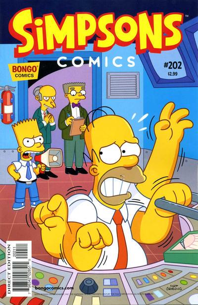 Cover for Simpsons Comics (Bongo, 1993 series) #202
