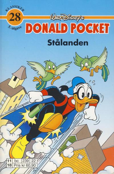 Cover for Donald Pocket (Hjemmet / Egmont, 1968 series) #28 - Stålanden [1. opplag]