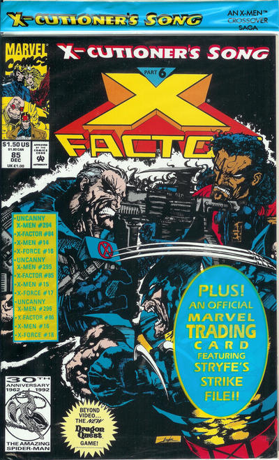 Cover for X-Factor (Marvel, 1986 series) #85 [Direct Edition]