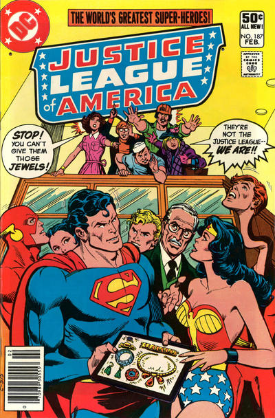 Cover for Justice League of America (DC, 1960 series) #187 [Direct Sales]
