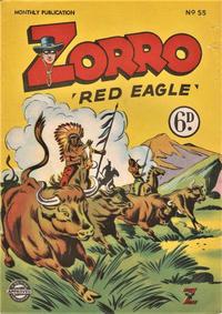 Cover Thumbnail for Zorro (L. Miller & Son, 1952 series) #55