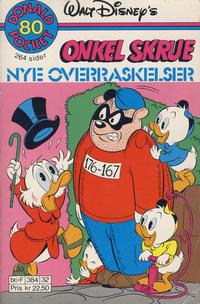 Cover Thumbnail for Donald Pocket (Hjemmet / Egmont, 1968 series) #80 - Onkel Skrue Nye overraskelser [1. opplag Reutsendelse 384 32]